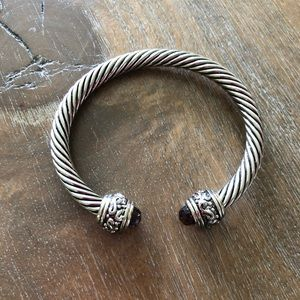 Jewelry - Cable Calssic Bracelet  w/ Amethyst stone